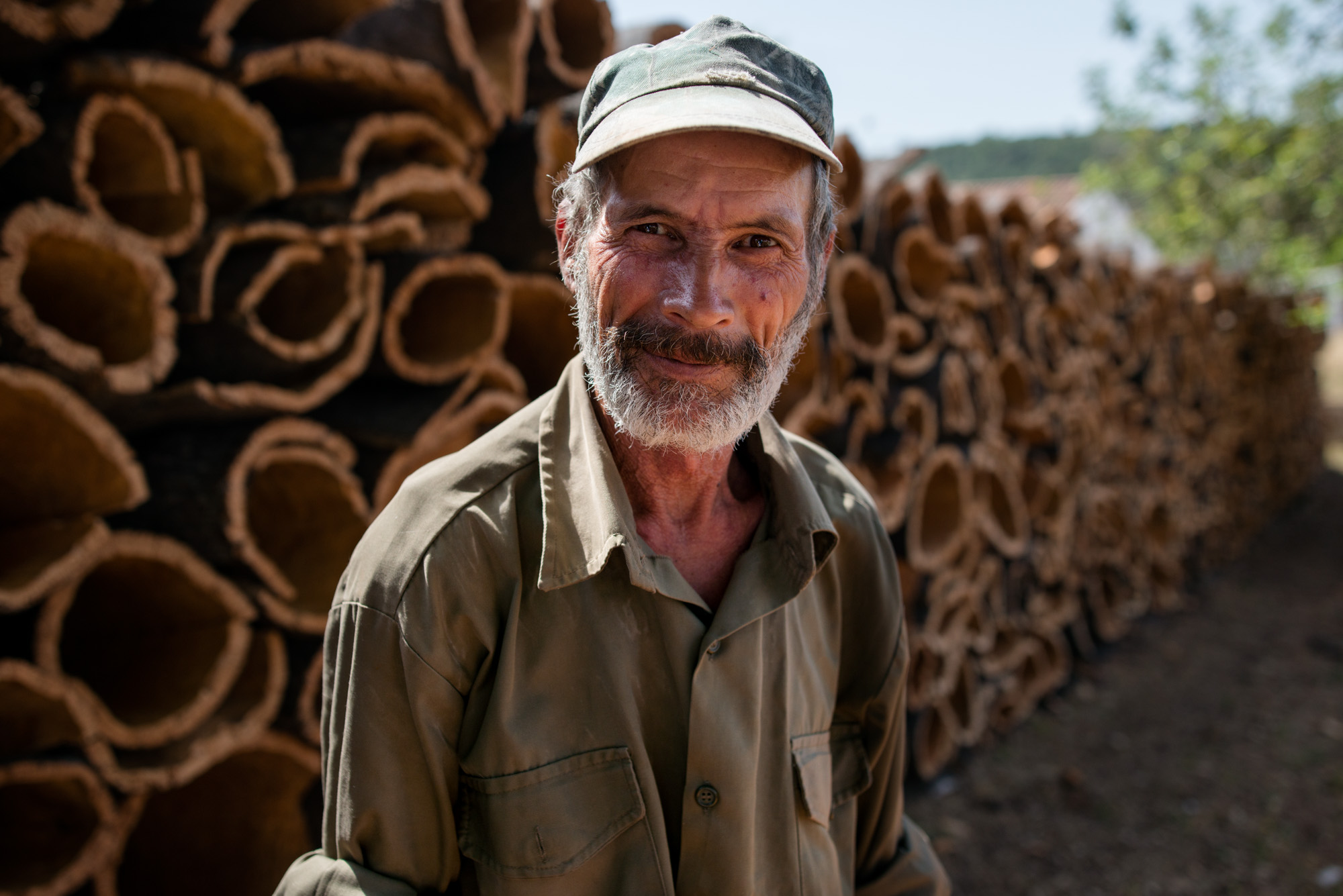 Portrait of a cork oak cutter